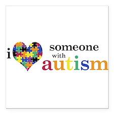 "Cute Autism awareness Square Car Magnet 3"" x 3"""