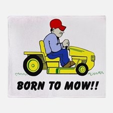 Born To Mow Throw Blanket
