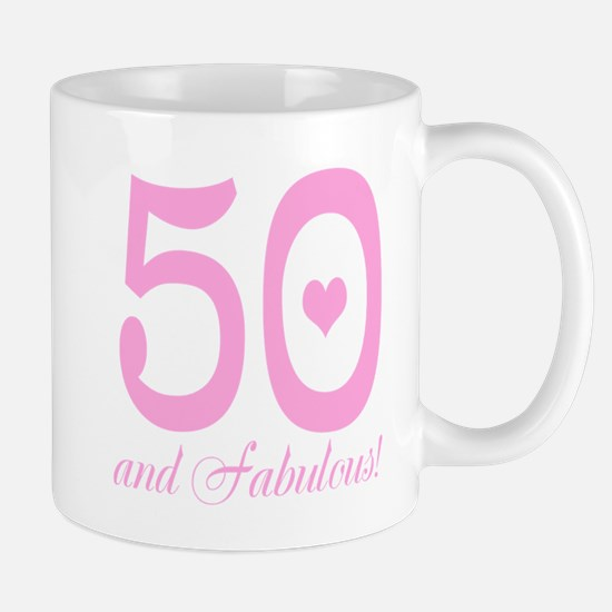 50 And Fabulous Mugs | 50Th Birthday Women