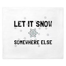 Let It Snow King Duvet