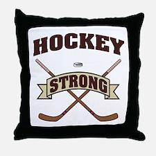 Hockey Strong Throw Pillow