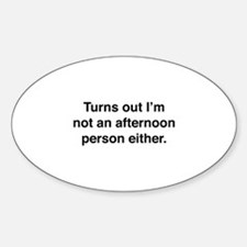Afternoon Person Decal