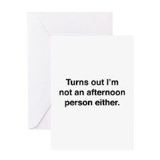 Afternoon Person Greeting Card