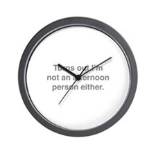 Afternoon Person Wall Clock