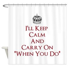 Red Keep Calm Shower Curtain
