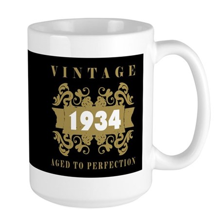 1934 Aged To Perfection Large Mug