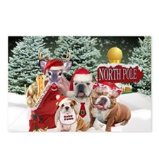 Bulldogs Santas Family Xmas Card Final Postcards (