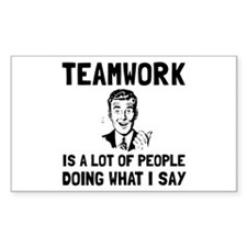 Teamwork Say Decal