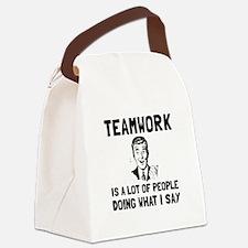 Teamwork Say Canvas Lunch Bag