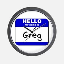 hello my name is greg  Wall Clock