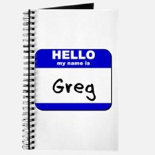 hello my name is greg Journal