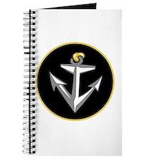 Stylish Black Anchor Journal