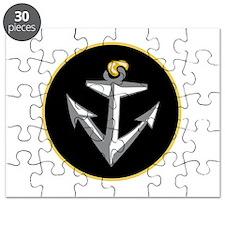 Stylish Black Anchor Puzzle