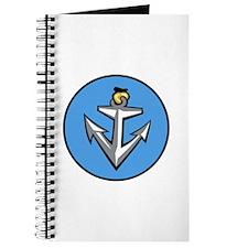 Stylish Blue Anchor Journal