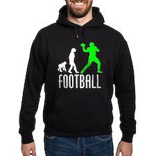 Football Quarterback Evolution (Green) Hoody