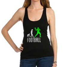 Football Quarterback Evolution (Green) Racerback T