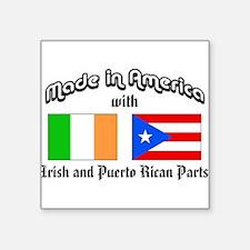 Irish-Puerto Rican Rectangle Sticker