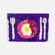 'Bacon and Eggs' Rectangle Magnet