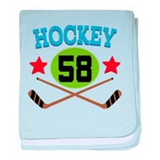 Hockey Player Number 58 baby blanket