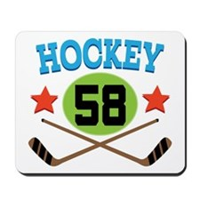 Hockey Player Number 58 Mousepad