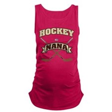 Hockey Nana Maternity Tank Top