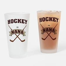 Hockey Nana Drinking Glass