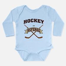 Hockey Referee Long Sleeve Infant Bodysuit