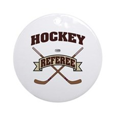Hockey Referee Ornament (Round)
