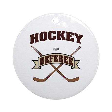 Hockey Referee Ornament (Round)