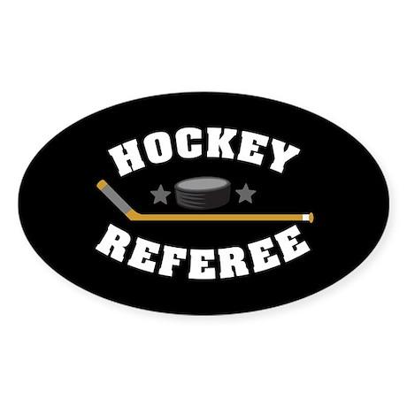 Hockey Referee Sticker (Oval)