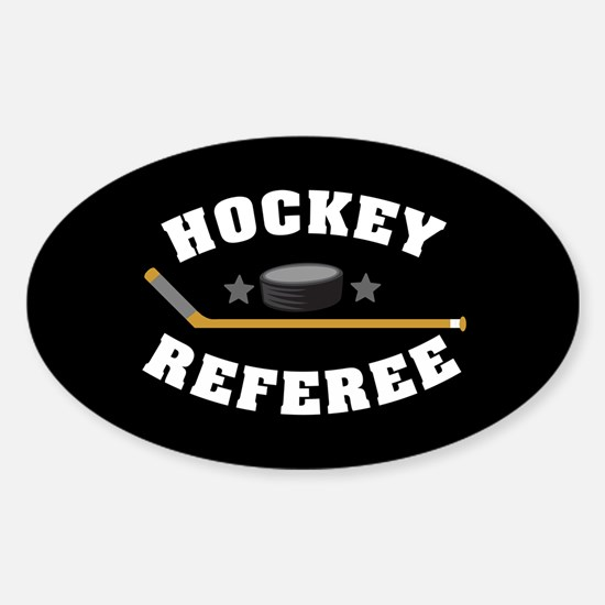 Hockey Referee Sticker (Oval)