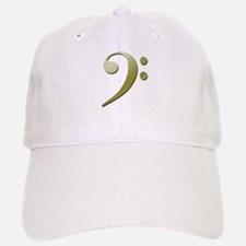 Bass Clef in Gold Baseball Baseball Baseball Cap