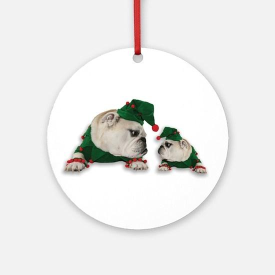 Santas Elves Ornament (Round)
