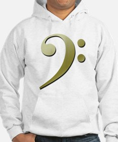 Bass Clef in Gold Hoodie