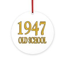1947: Old School Ornament (Round)