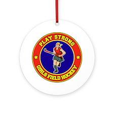 Girl's Field Hockey Ornament (Round)