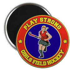 Girl's Field Hockey Magnet