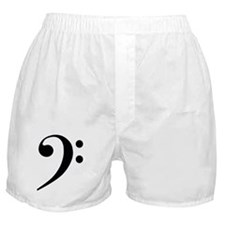 Bass Clef in Gold Boxer Shorts
