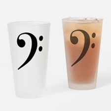 Bass Clef in Gold Drinking Glass