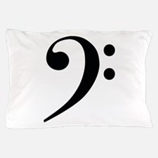 Bass Clef in Gold Pillow Case