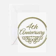 4th Anniversary Greeting Cards
