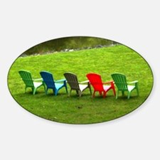 Adirondack Chairs at the Lake House Decal
