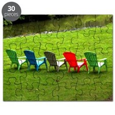 Adirondack Chairs at the Lake House Puzzle