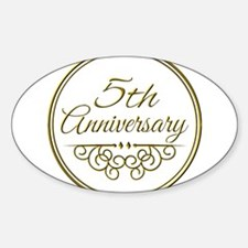 5th Anniversary Decal