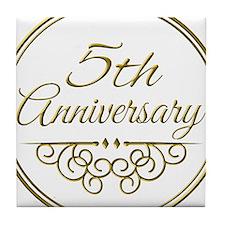 5th Anniversary Tile Coaster