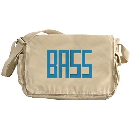 Bright Blue Bass Messenger Bag