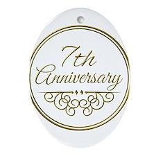 7th Anniversary Ornament (Oval)