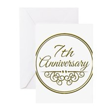 7th Anniversary Greeting Cards