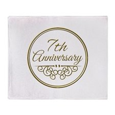7th Anniversary Throw Blanket