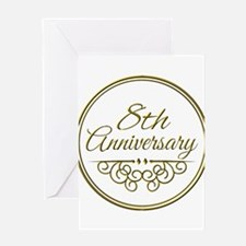 8th Anniversary Greeting Cards